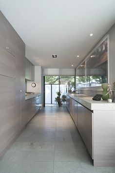 One of the kitchens in the Tivoli Place Apartments in South Yarra by B.E Architecture