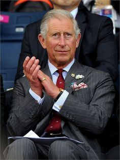 Prince Charles, Prince of Wales watches Badminton on Day 1 of the London 2012 Olympic Games at Wembley Arena on 28 July2012