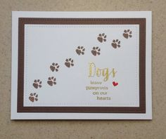 Pet Sympathy Card Pet Loss Card Dog Sympathy Card Handmade