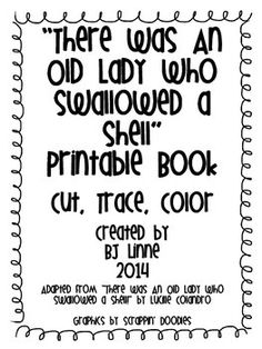 There Was an Old Lady Who Swallowed a Shell Printable book!