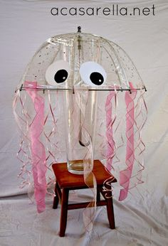 'A Casarella: DIY Jellyfish Costume I might totally do this costume for Halloween! Jellyfish Drawing, Jellyfish Painting, Jellyfish Tattoo, Watercolor Jellyfish, Gumball Machine Halloween Costume, Diy Halloween Costumes, Costume Ideas, Homemade Halloween, Halloween Ideas