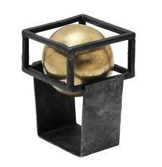 Gigi Mariani – crazy ball. Silber, 18 Kt. Gold, Niello, Patina