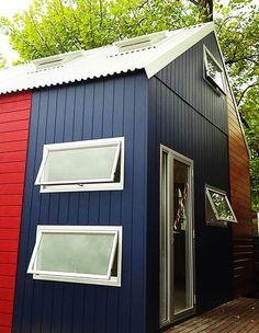 A modern style Western Red cedar granny flat, The Byron from Cedarspan is ideal for a narrow backyard or block of land. Cedar Cabin, The Byron, Granny Flat, Western Red Cedar, Front Doors, Stables, Shed, Barn, Walls