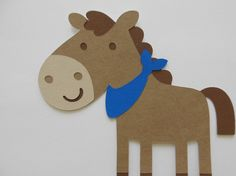 Farm Animal Cutouts - Horse - Birthday Party Decoration - Baby Shower Decorations - Set of 1 - http://www.babyshower-decorations.com/farm-animal-cutouts-horse-birthday-party-decoration-baby-shower-decorations-set-of-1.html