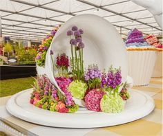Interflora at the RHS Chelsea Flower Show - Time for Tea, our 2015 exhibit
