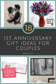18 Great 1st Anniversary Gifts For Couples First Anniversary Gifts ...