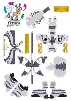 Zecora papercraft by *Kna on deviantART