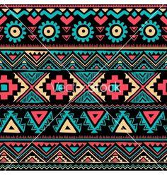 Tribal vintage retro ethnic seamless vector by transia on VectorStock®