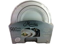 masterpiece premium quality heavyweight plastic plates 25 dinner plates and 25 salad plates masterpiece http