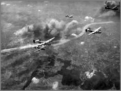 3 April 1944 - Allied bombers hit Budapest in Hungary, now occupied by the Germans, and Bucharest in Romania, ahead of the advancing Red Army - American bombers above Budapest Agricultural Land, Ww2 Planes, Red Army, Bucharest, World War Two, Romania, Wwii, Fighter Jets, Aircraft