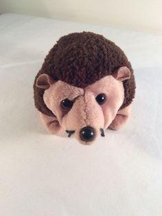 "1999 TY Beanie Babies Plush Prickles the Hedgehog Stuffed Animal Toy 6"" Brown #Ty #Beanie"