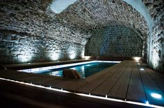 Swimming Pool Lights, Swiming Pool, Indoor Swimming Pools, Piscina Spa, Lazy River Pool, Hudson Homes, Loft Lighting, Spa Design, Dream Pools