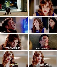 Her concern throughout Barry vs Zoom shows how much she cares for him. #Snowbarry  Caitlin and Barry The Flash