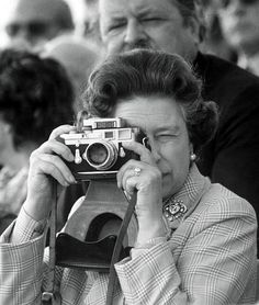 Queen with camera