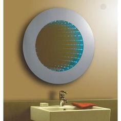 Bathroom Mirror Za feiss infinity mirror, blue sea | infinity mirror, great deals and