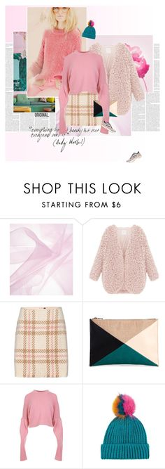 """""""Pink is always a good idea."""" by stephaniee90 ❤ liked on Polyvore featuring MARC CAIN, Sole Society, TIBI, Topshop and New Balance"""