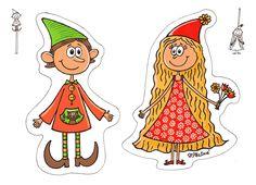 Vystřihovánka+Skřítek+a+Skříťulka+Autorská+vystřihovánka+je+vytištěna+na+kvalitním+papíře+vyšší+gramáže+vel.+A5.+Za+stejnou+cenu+je+možno+objednat+i+pohlednici+vel.+A6. Paper Puppets, Paper Toys, Circle Game, Fairy Princesses, Princess Zelda, Disney Princess, Kids Playing, Mythology, Kids Toys