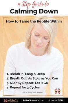 The 4 Step Guide to Calming Down as Self Care - How to tame aggression through mindful breathing and meditation. Path of Presence :: Conscious breath :: Meditation
