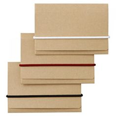Recycled Paper Card Holder with band