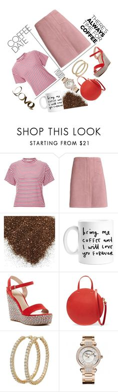 """""""Empress Catherine's style in coffee date with Nicholas the Great #589"""" by imperialfamilyfans ❤ liked on Polyvore featuring Miss Selfridge, M.i.h Jeans, ALDO, Clare V., Roberto Coin, Chopard, PBteen and CoffeeDate"""