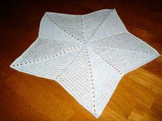 Free Crochet Baby Star Blanket Pattern.