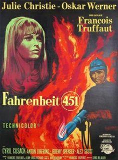 FAHRENHEIT 451 de François TRUFFAUT - Fantastique de 1966  -avec  Oskar WERNER  Julie CHRISTIE  Cyril CUSACK  Anton DIFFRING