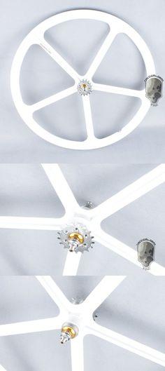 G TMC 700c 5 Spoke Rear Wheel Rim For Fixie Fixed Gear Bike ( White )