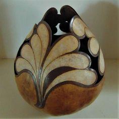 Decorative Original Hand Crafted Fine Art Gourd Bowl