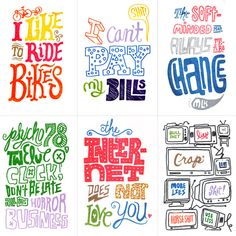 hand-drawn lettering