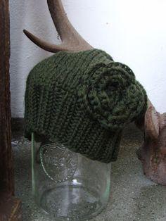 wintergrüne warme Mütze von MoritzMützen