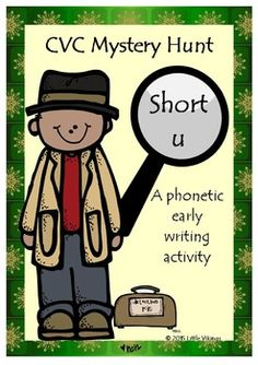 CVC Short U Write the Room- Freebie.  Three levels of differntiation get students up and around the room as they use their phonetic knowledge to spell words.