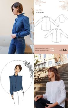 Coin Couture, Diy Wardrobe, Corsage, Sewing Patterns, Ruffle Blouse, Shirts, Inspiration, Womens Fashion, Collection