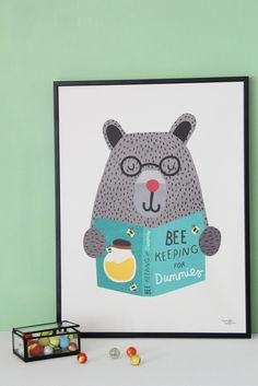 Michelle Carlslund Illustration Bee Keeping Poster | The Kid Who