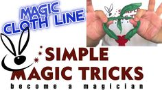 #Simple Magic Cloth Line #magic #tricks you can master in minutes: https://www.udemy.com/learn-the-best-simple-magic-tricks-become-a-magician/