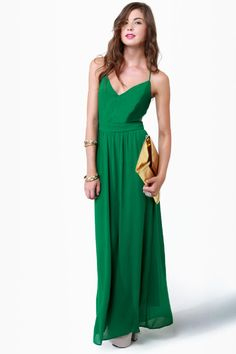 LULUS Exclusive Rooftop Garden Backless Green Maxi Dress at LuLus.com!