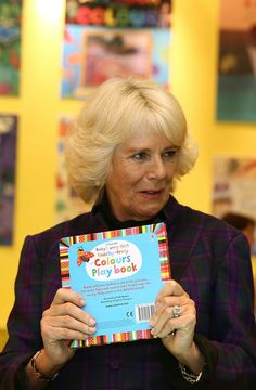 Camilla, Duchess of Cornwall during an official visit to The London Book Fair at Earls Court on April 9, 2014