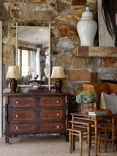 Is there a way to bridge the gap between my husband wanting masculine, rustic decor with lots of wood and my love of blue & white with creamy white molding? Rustic Cabin Decor, Rustic Room, Rustic Bedrooms, Rustic Homes, Rustic Cabins, Western Homes, Country Homes, Western Decor, Log Cabins