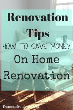 Do you need some tips for home renovation on a budget? You won't want to miss these renovation tips on how to save money on home renovation! They are super practical and very helpful! - March 02 2019 at Basement Remodel Diy, Basement Remodeling, Remodeling Ideas, Basement Flooring, Bathroom Remodeling, Basement Ideas, Home Improvement Loans, Home Improvement Projects, Cheap Home Decor