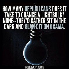 Funniest Barack Obama Memes of All Time: How Many Republicans Does It Take to Change a Lightbulb?