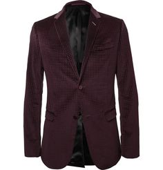 Gucci Embossed Velvet Blazer | MR PORTER