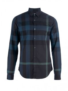 Checked print shirt