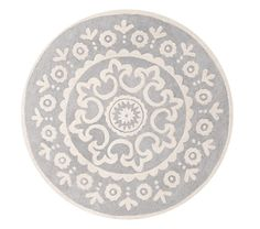 Round rugs are great for dividing a space.  McKenna Round Rug, 5x5' on sale $159