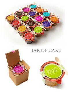 The idea of cake in a jar