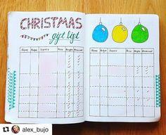 Neat idea for a gift list page... Via @alex_bujo