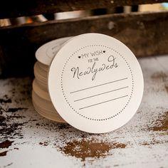 Wedding Advice Coasters - wish for the newlyweds, weddings, coasters, favors, bridal shower, bridal favors via Etsy