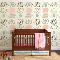 5-Elephant-nursery-DIY-stencils-wallpaper