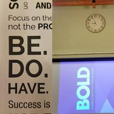BOLD session 4: Today's lesson is Be Do Have... It all starts with being the person that you want to be!