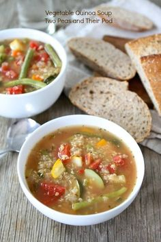 Vegan Vegetable Quinoa Soup from www.twopeasandtheirpod.com #vegan #gluten_free #recipe