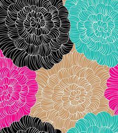 LOVE this pretty flower fleece fabric! #pretty #fabric