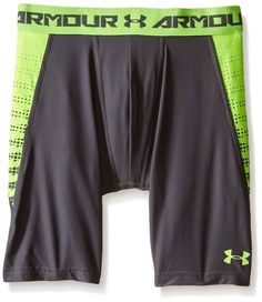 Under Armour HeatGear Armour Up Shorts Boys Long Fitted Base Graphite Size YXL  #UnderArmour #Everyday